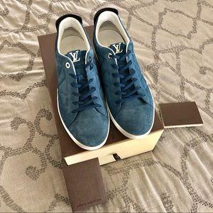 Louis Vuitton Fuselage Sneakers in Blue Suede